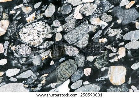 Pebbles rock background - stock photo