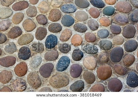 pebbles texture - stock photo