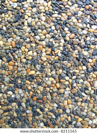 Pebbles Upclose - stock photo