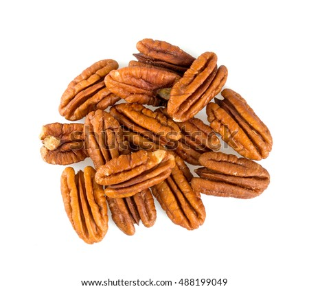 pecan nuts isolated on white