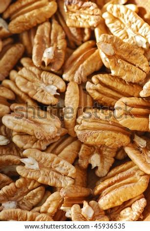 pecan nuts pile