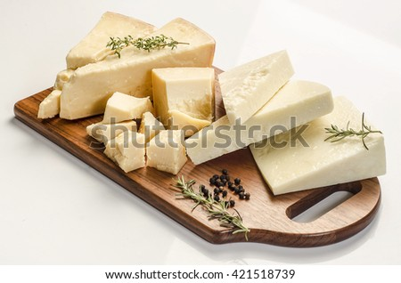Pecorino Cheese with rosemary - stock photo