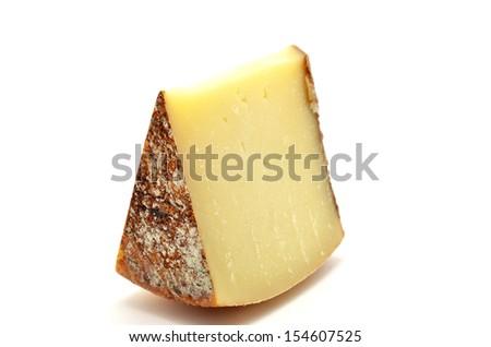 Pecorino di Pienza, typical italian sheep cheese - stock photo