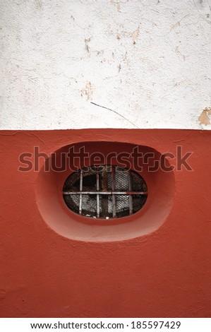 Peculiar Rounded window in Guanajuato Mexico - stock photo