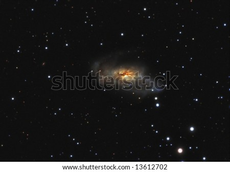 Peculiar Spiral Galaxy - stock photo