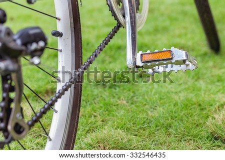 pedal bicycle - stock photo
