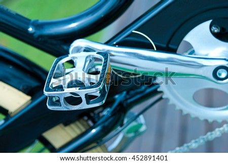 Pedal bike closeup