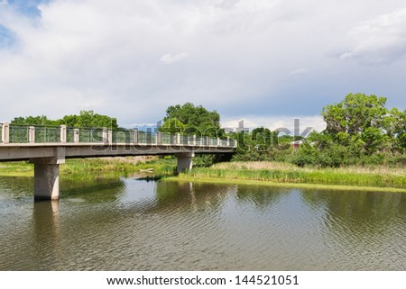 Pedestrian bridge over the Rio Grande, Alamosa, Colorado
