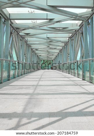 Pedestrian bridges  - stock photo