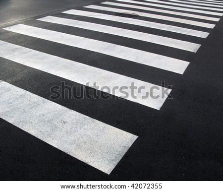 pedestrian crossing - stock photo