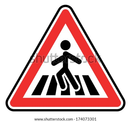 pedestrian crossing sign - stock photo