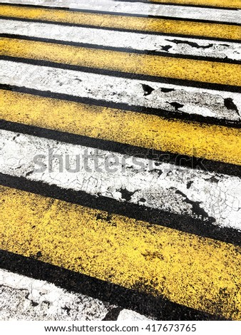 pedestrian crossing with road marking abstract background - stock photo