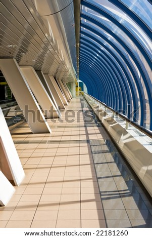 Pedestrian passage near the International Business Centre, Moscow, Russia - stock photo