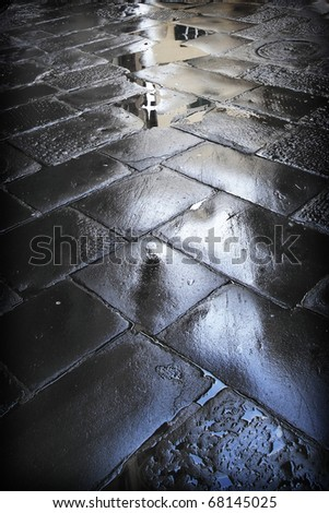 pedestrian road - stock photo