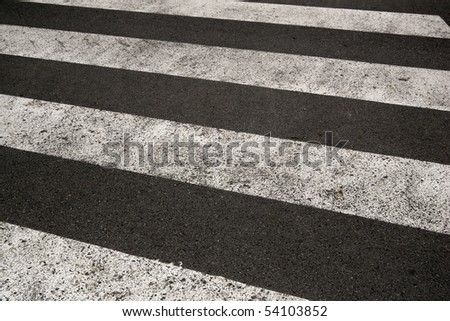 pedestrian road crossing - stock photo