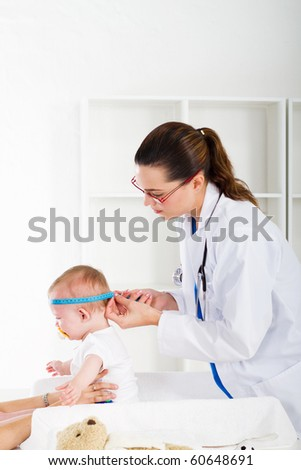 pediatric checkup - stock photo