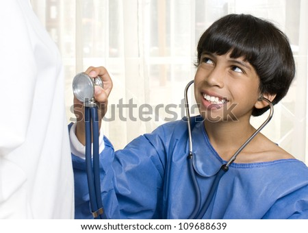 Pediatrician and Child  Test - stock photo