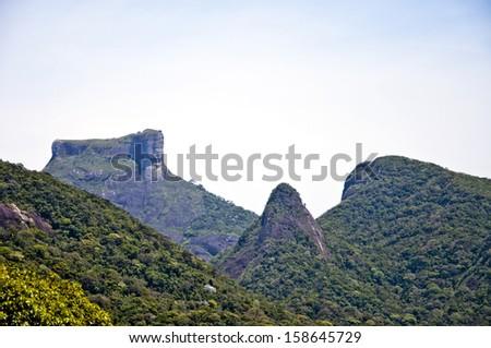 Pedra da Gavea - Rio de Janeiro - Brazil - stock photo