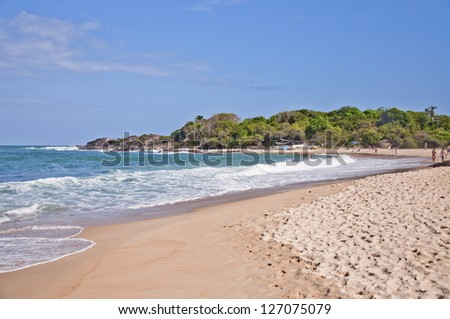 Pedra de Xareu beach - near Recife - Pernambuco - Brazil - stock photo