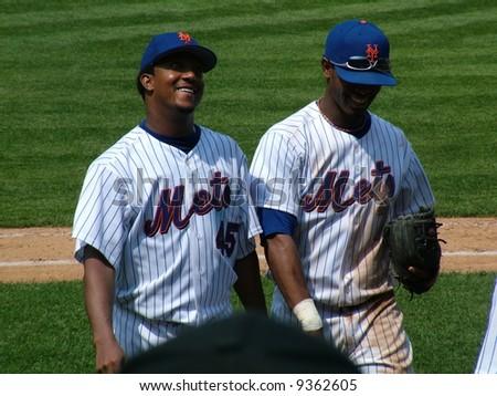 Pedro Martinez and Jose Reyes - stock photo