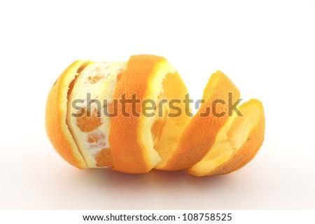 Peel navel orange for health - stock photo