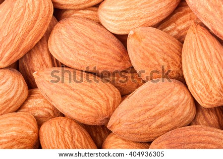 peeled almonds as a background close-up macro