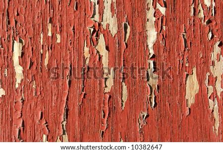 Peeling brown wall - stock photo