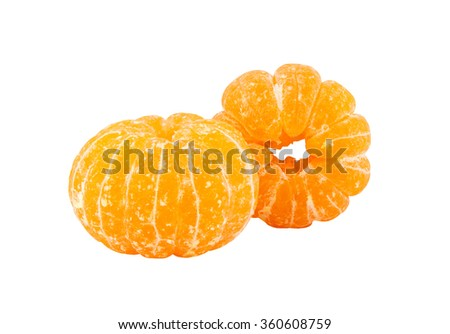 peeling fruit isolated on white