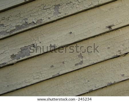 peeling house paint - stock photo
