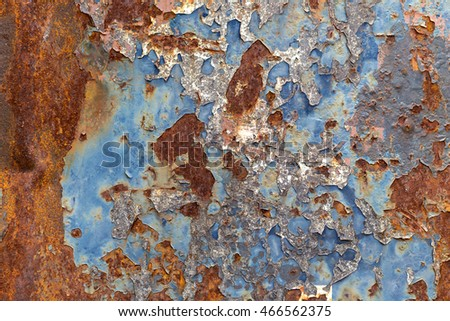 peeling paint and rusty old metal texture.