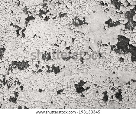 Peeling paint, grunge wall - stock photo