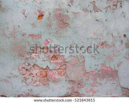 Peeling paint on a wall