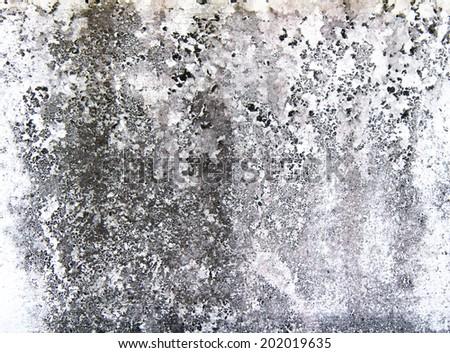 Peeling paint on cement wall texture - stock photo