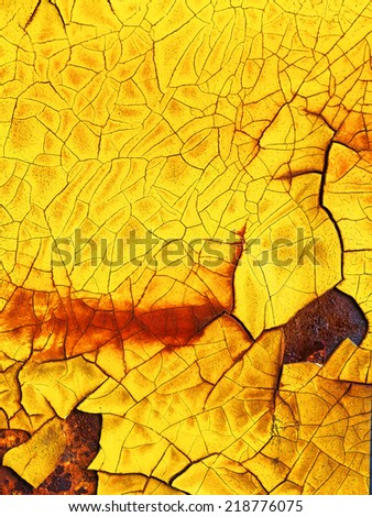peeling paint on rusty metal wall, abstract texture, old vintage panel. Please visit my gallery to find more similar photos. - stock photo