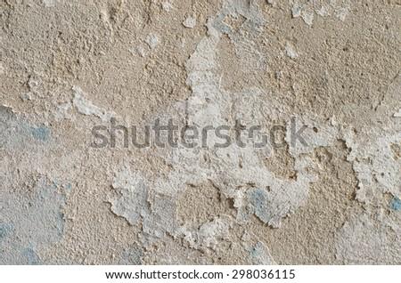 peeling paint on wall - stock photo