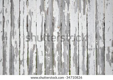 Interesting Picket Fence Texture Peeling Paint On White Decor