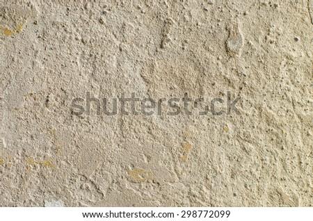 peeling plasterwork on wall - stock photo
