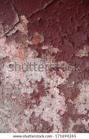 Peeling wall grunge a background - stock photo