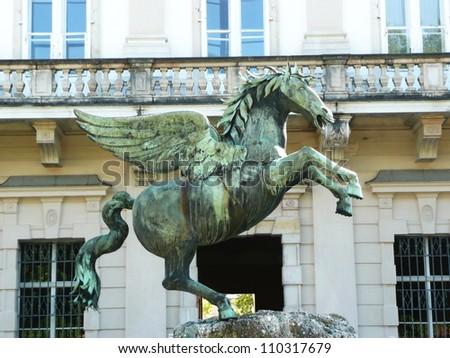 Pegasus in Mirabell Gardens in Salzburg in Austria - stock photo