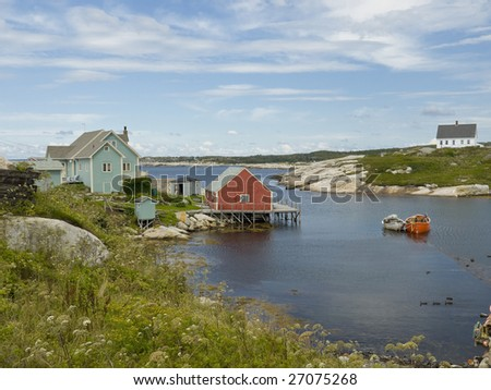 Peggy's Cove a small fishing village just outside of Halifax's - stock photo