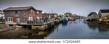 Peggy's Cove, St. Margarets Bay, Nova Scotia  - stock photo