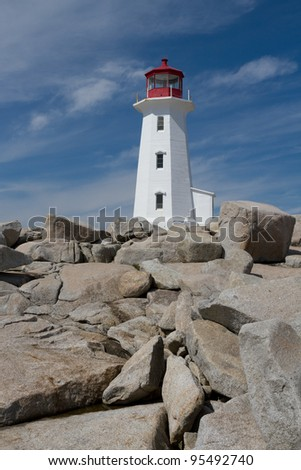 Peggys Cove Lighthouse - stock photo