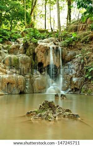 Peing Din Waterfall, A Tiny Waterfall in Loei Province, Thailand.