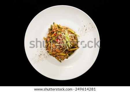 Pekin salad served - stock photo