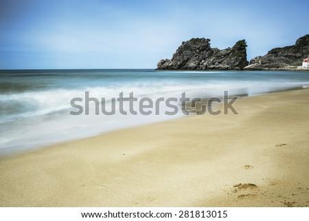 Pelekas beach, island Corfu, Greece - stock photo