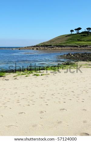 Pelistry beach, St. Mary?s, Isles of Scilly Cornwall UK. - stock photo