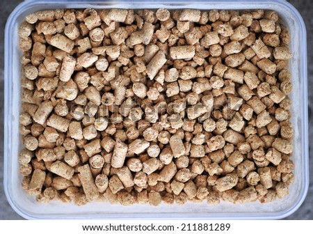 pellet feed soybean meal - stock photo