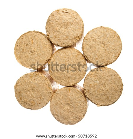 pellets isolated - stock photo