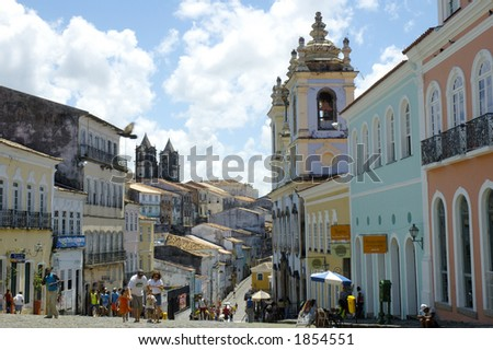 Pelourinho - Salvador da Bahia - Brazil - stock photo