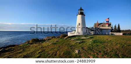 Pemaquid Point Lighthouse In The Morning, Bristol Maine